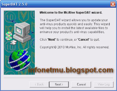 Cara Update McAfee Offline Terbaru