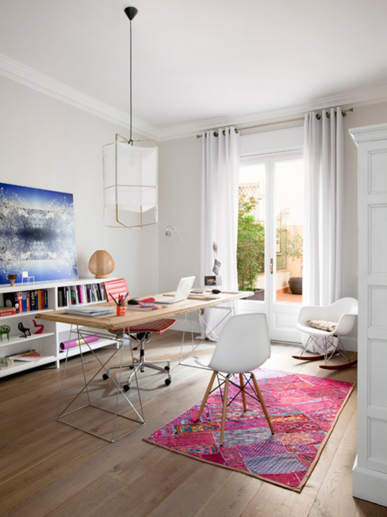 Apartment in Barcelona, designed by Merixtel Riba for Rum Hemm, found via the style-files.