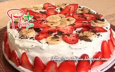 Torta di Compleanno con Gelato, Fragole e Banana di Tessa Gelisio