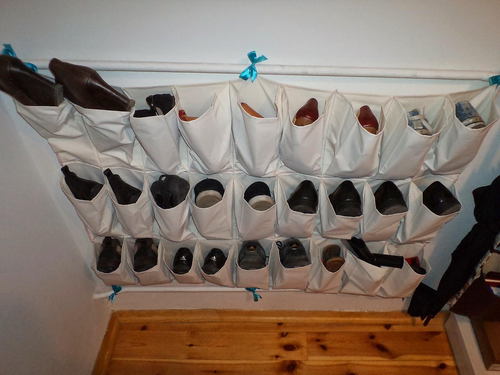 jak uszyć organizer na buty, wieszak na buty