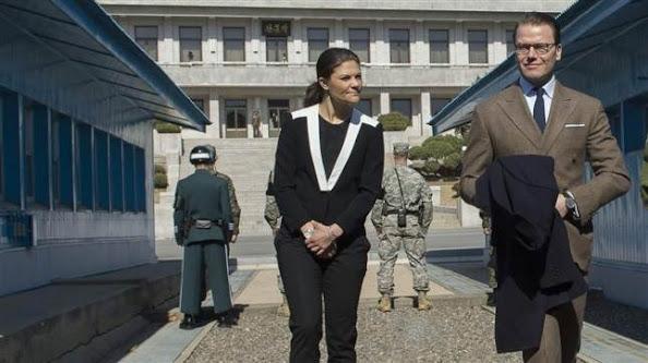 Princess Victoria and Prince Daniel visit to the Korean Demilitarized Zone