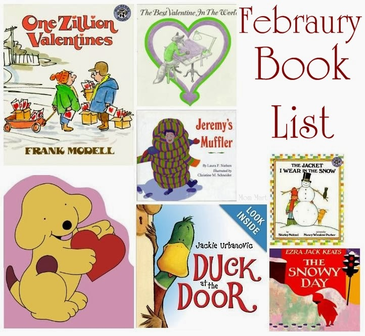 2014 February Valentine's Day and Winter Book List