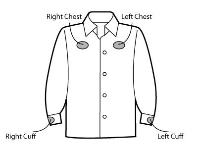 Sketch of full sleeve woven shirt