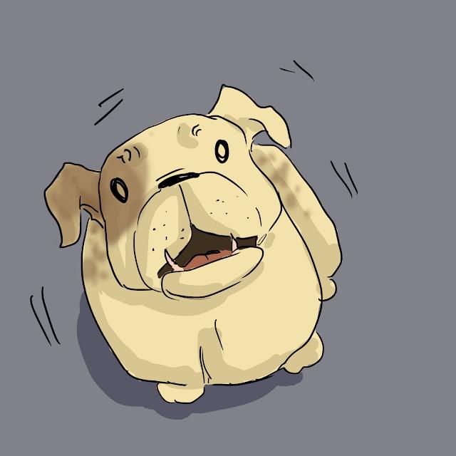Dog Shaking Gin Birthday Comic