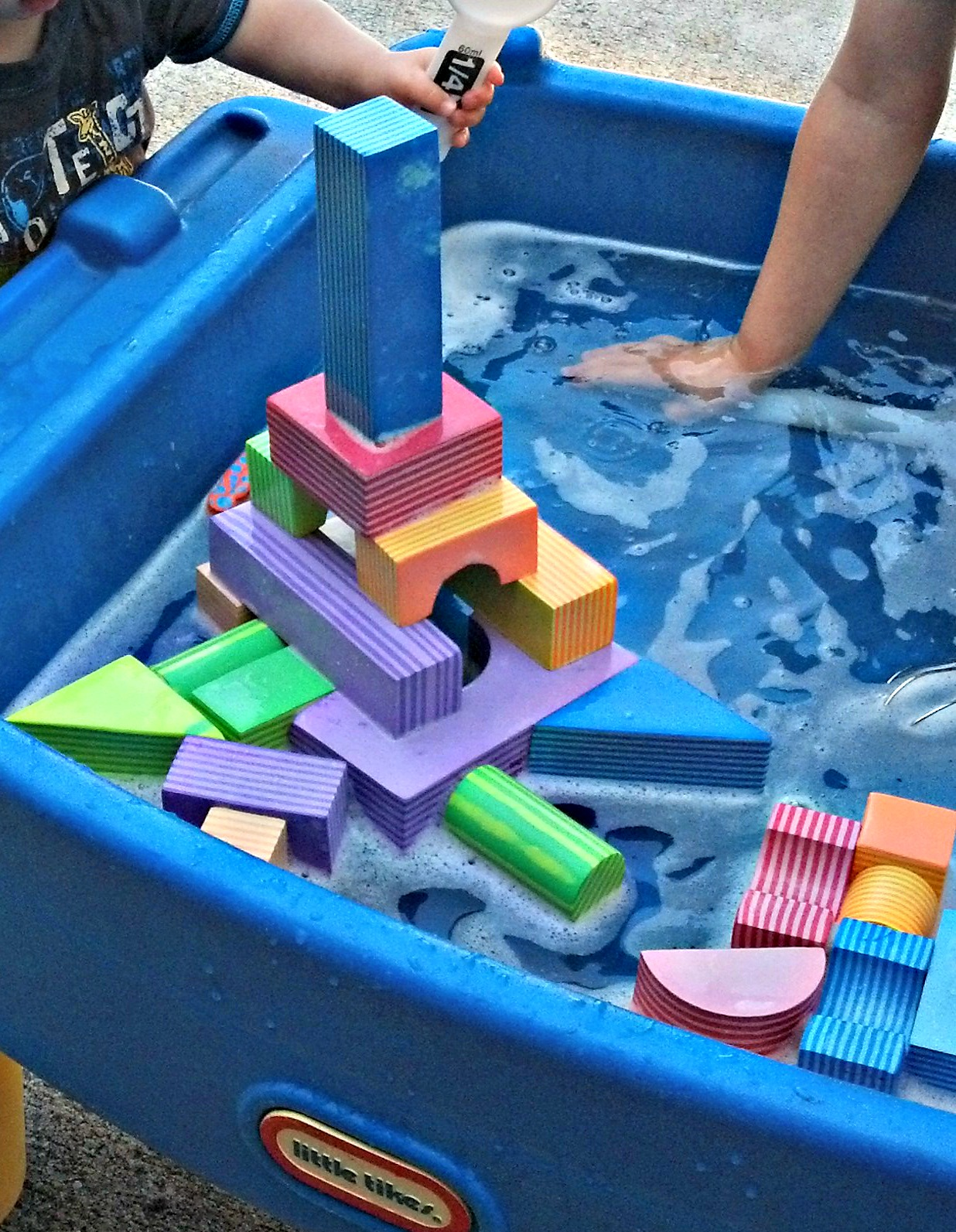 Little moments four foam block building ideas for Foam block construction