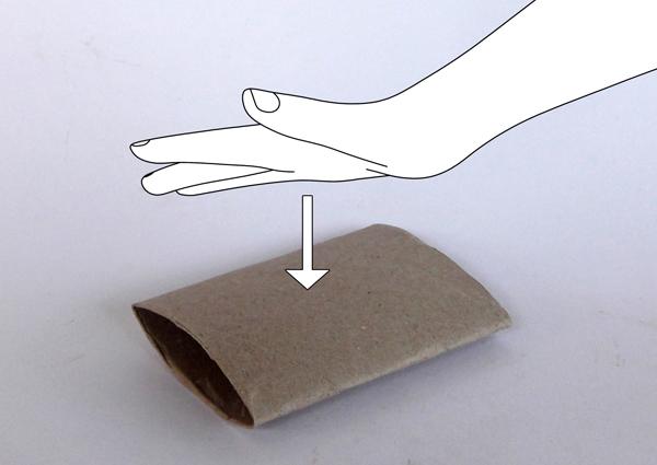 flat paper tube, flat toilet paper roll