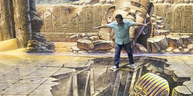 Unik, Seni 3D Satukan Lukisan dengan Manusia