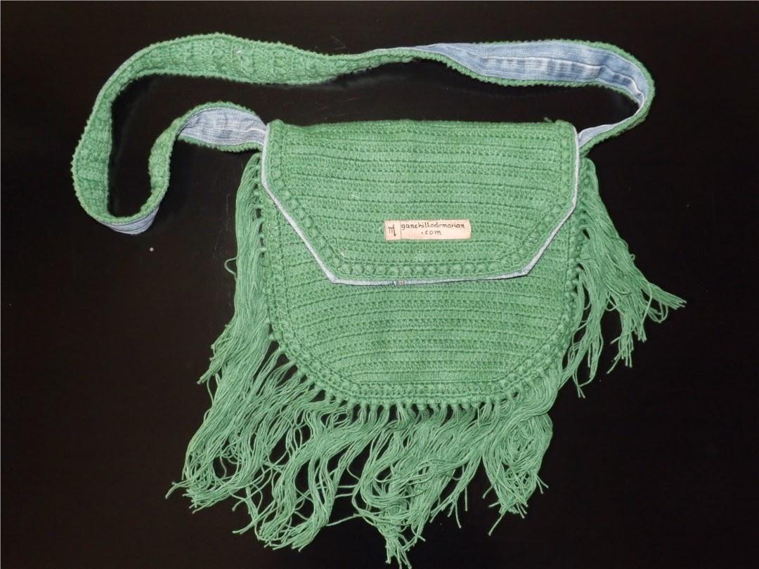 bolso tejido a crochet o ganchillo