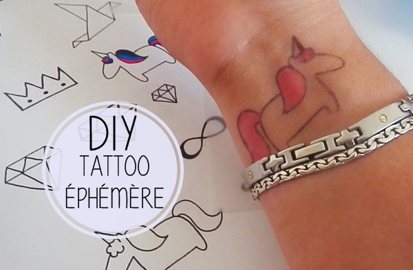 diy : tatouages éphémères - caro dels - blog diy et loisirs créatifs