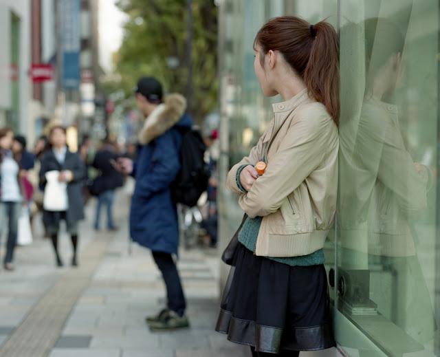 Japonesa esperando