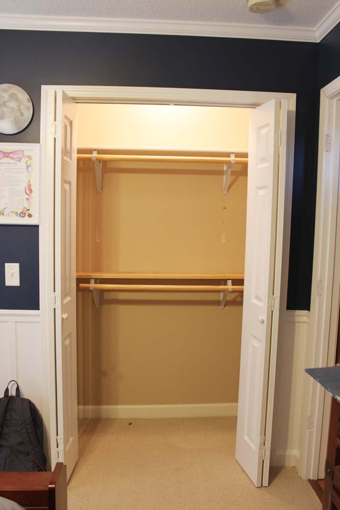 Peach Street S Blog Our Under 100 Closet System Ikea Hack
