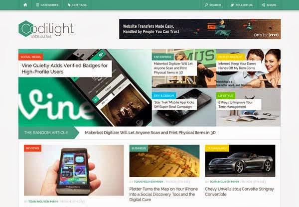 Codilight – Beautiful Responsive Blog/Magazine Theme