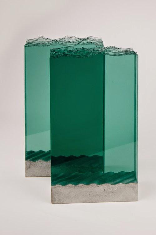 Ben Young esculturas de vidro ondas do mar