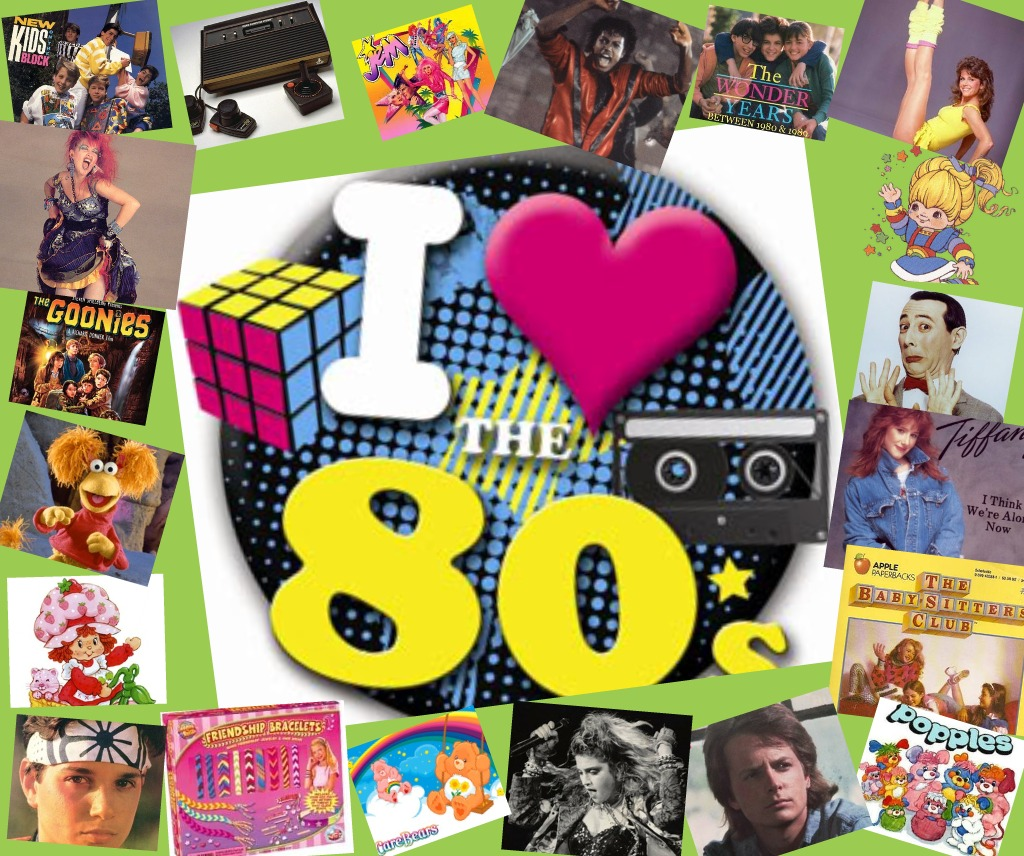 I Love 80s Collage