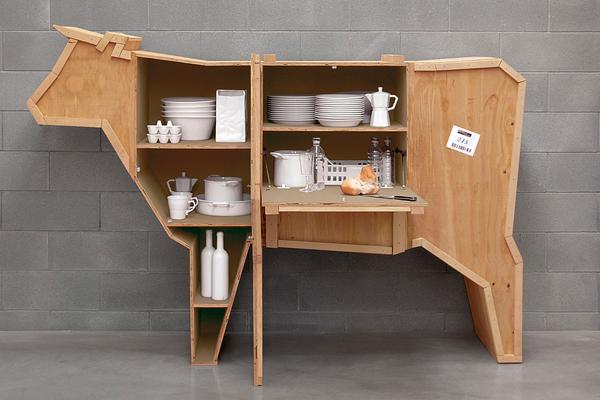 Interesantes muebles de madera con formas de animales - Disenos para muebles de madera ...