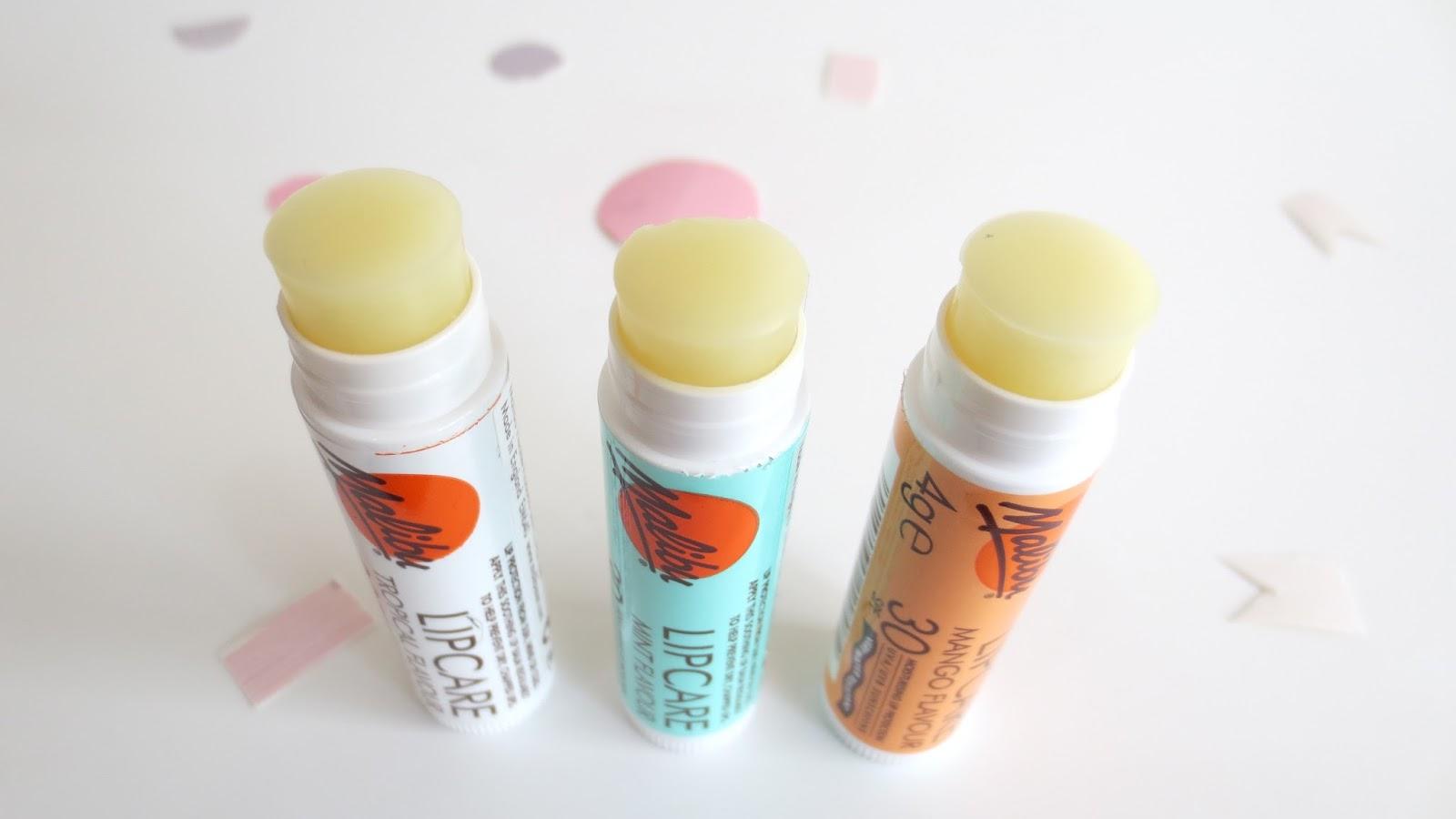 Malibu lip care 3 pk pack balms