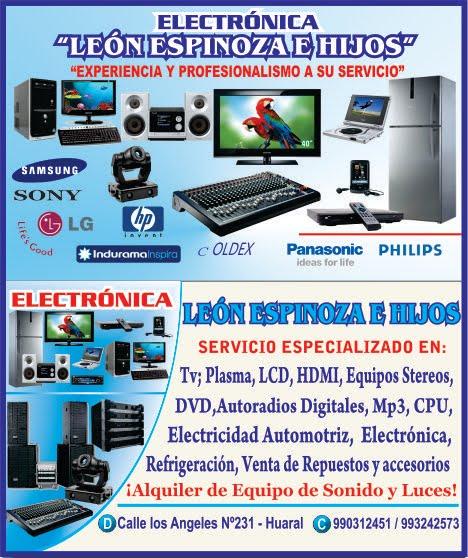 """ELECTRONICA """"LEON ESPINOZA E HIJOS"""""""