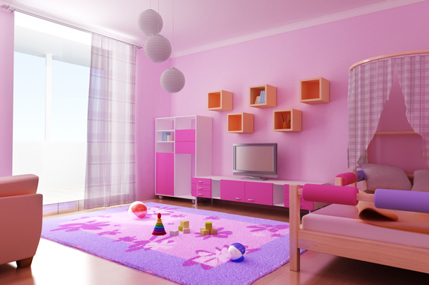 decoration chambre pinky fillette