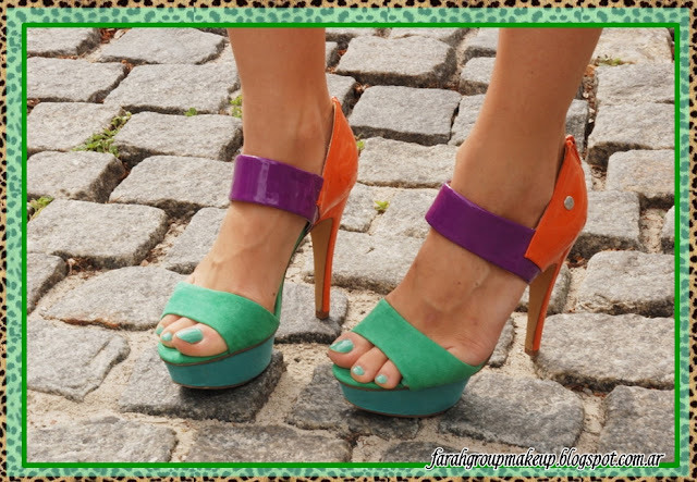 zapatos, colorblock
