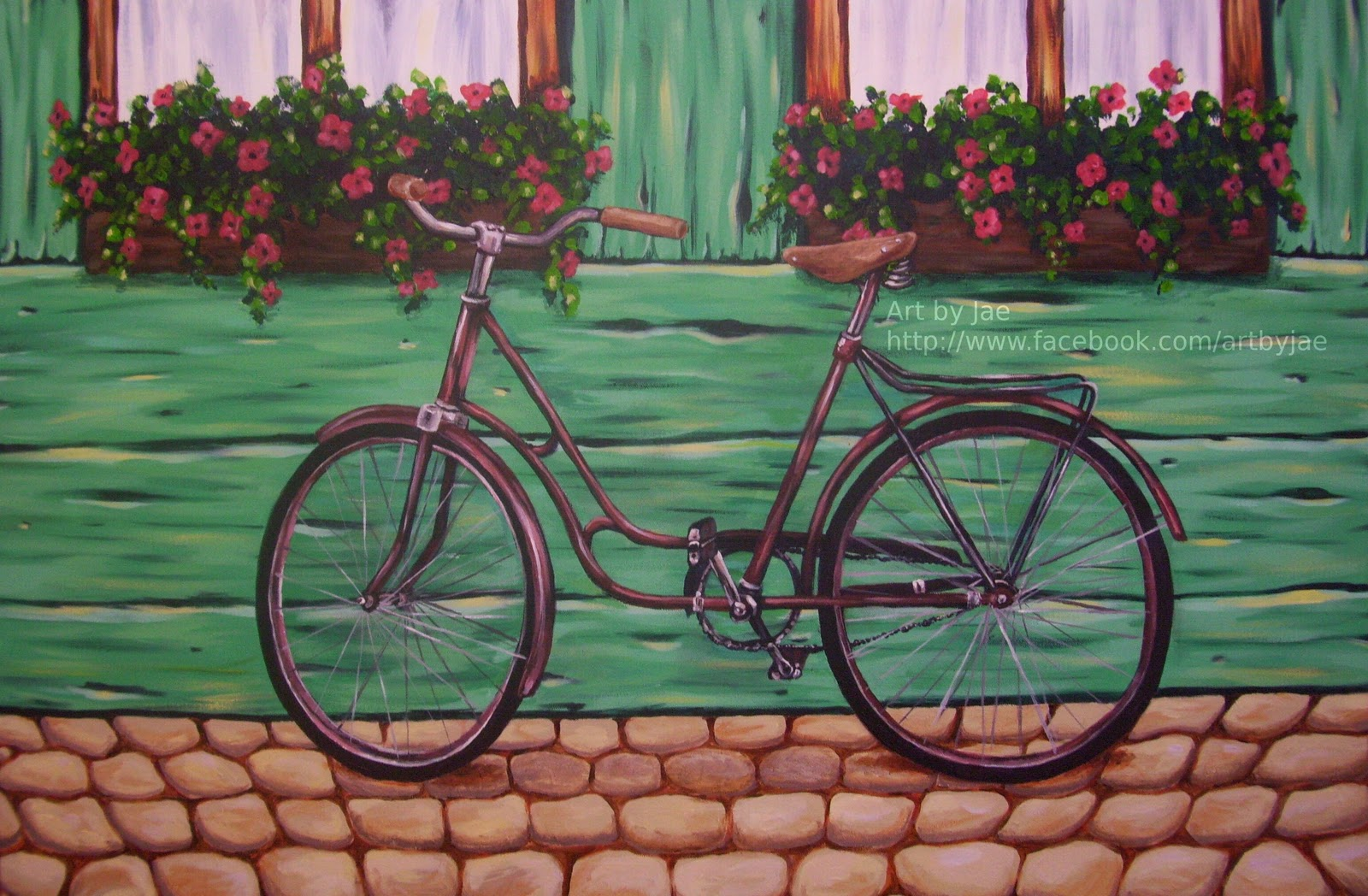Art by jae retro and bicycles for Bicycle painting near me