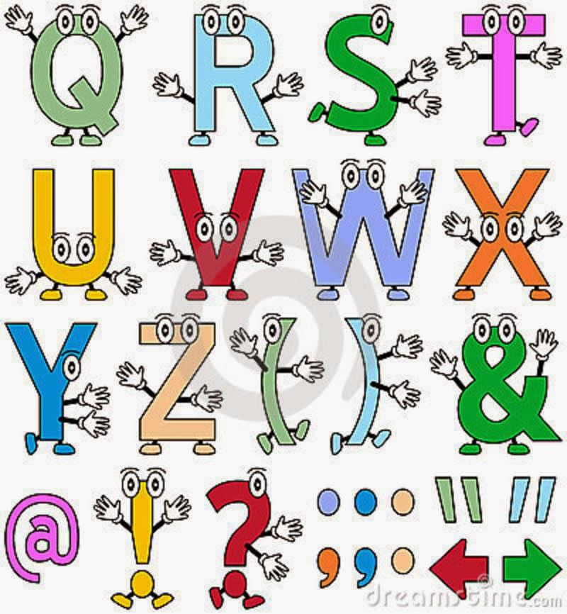 8 Letter Cartoon Characters : Marcinha anjos alfabeto divertido