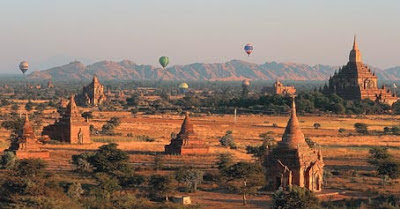 Bagan Pagodas and Temples in central Myanmar