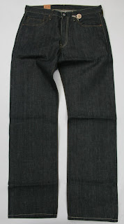 Levis 501 Shrink To Fit # 045018736 31X36 100% Organic Green Selvedge / Selvage