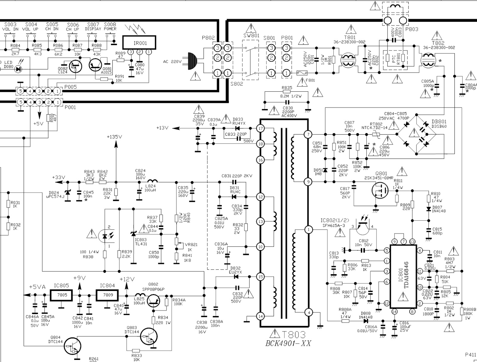 tcl mr-29tf 19rca - power supply schematic  smps