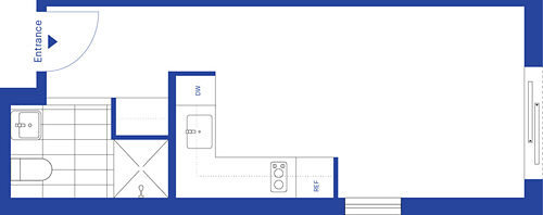 New York City micro apartment floor plan