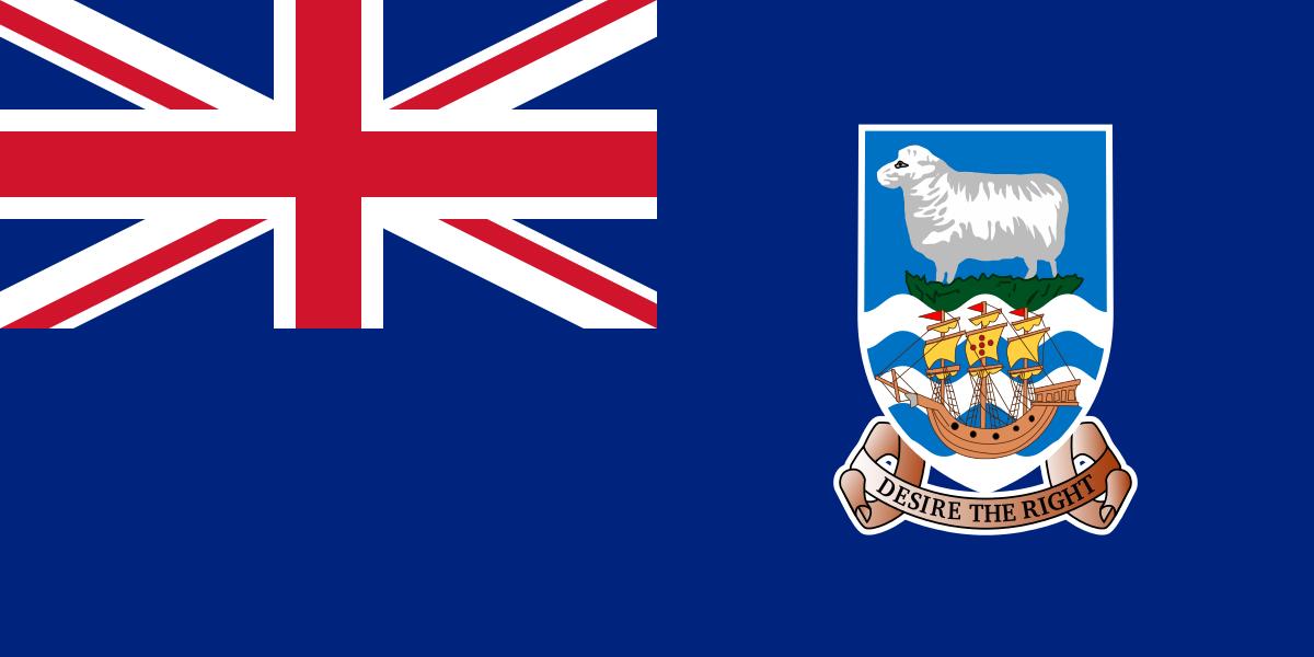 Bandera de Islas Malvinas Britanica