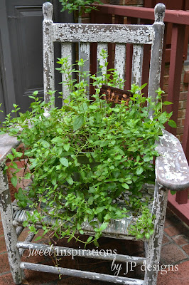 chippy old chair planter