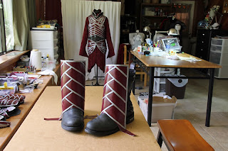 Lord Elrond boot armor work in progress.