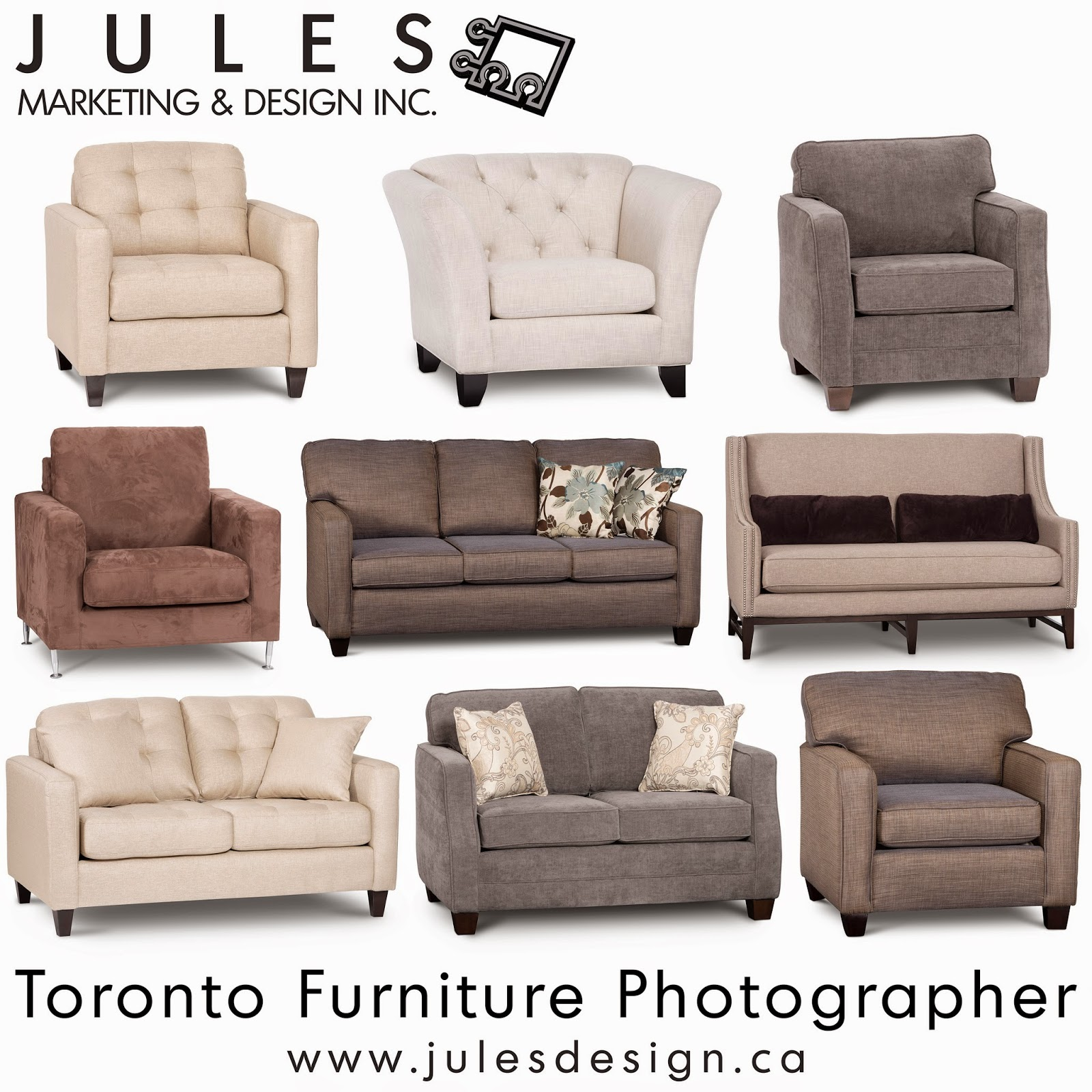 Product photography is synonymous with graphic design for B furniture toronto