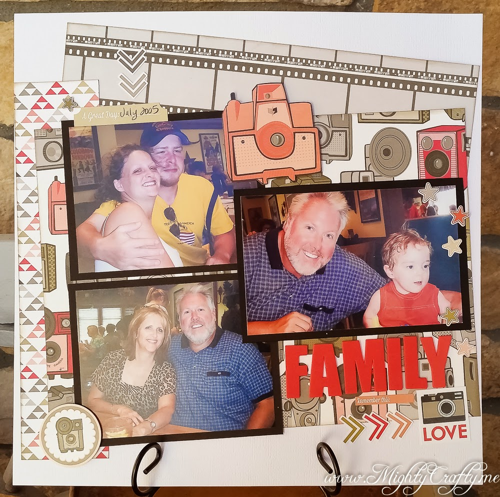Family Love layout for Sketch N Scrap sketch #60 -- www.MightyCrafty.me