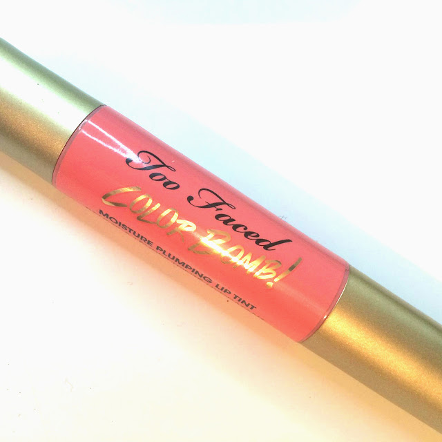 Too Faced Lip Injection Color Bomb! in Coral Pop!
