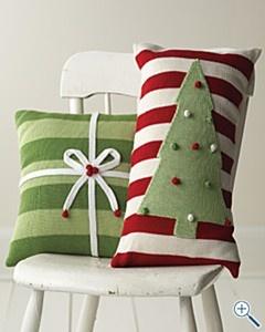 Almofadas de Natal  formatos diferenciados