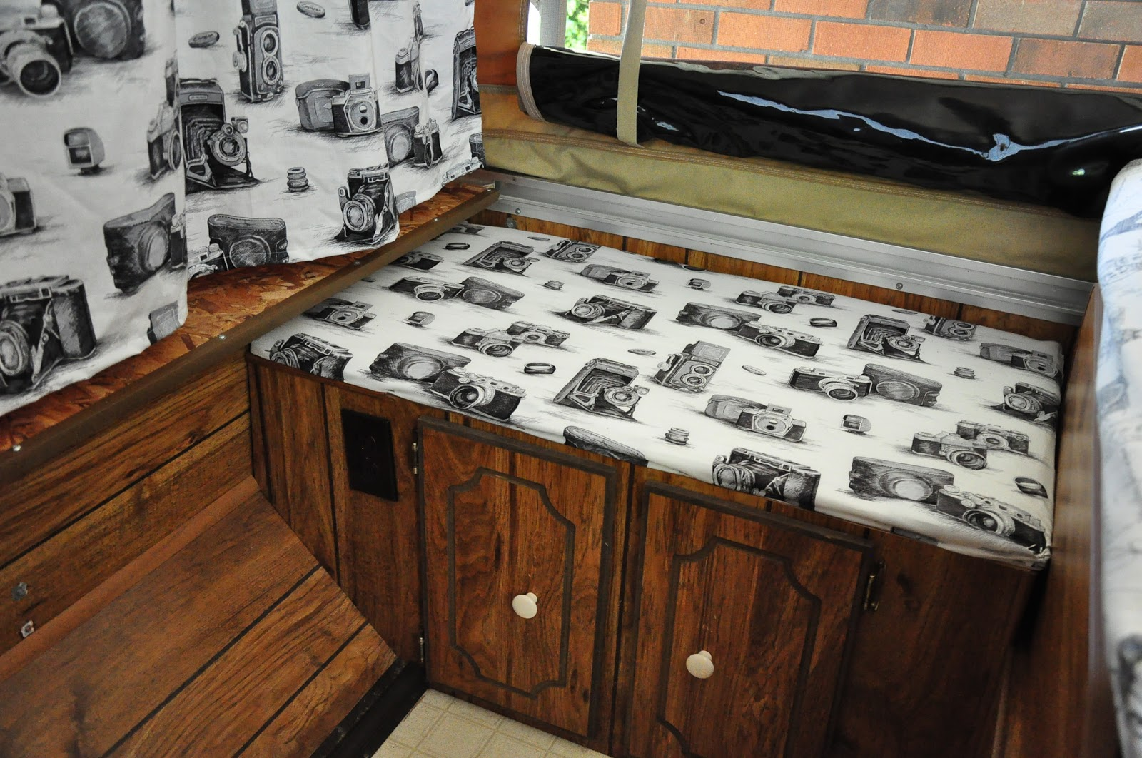 In This Camper Makeover, One Of The Curtains Was Originally Placed Upside  Down. I Reworked It After The Photo Was Taken.