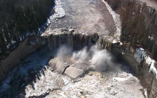 Alexandra Falls, vista aérea