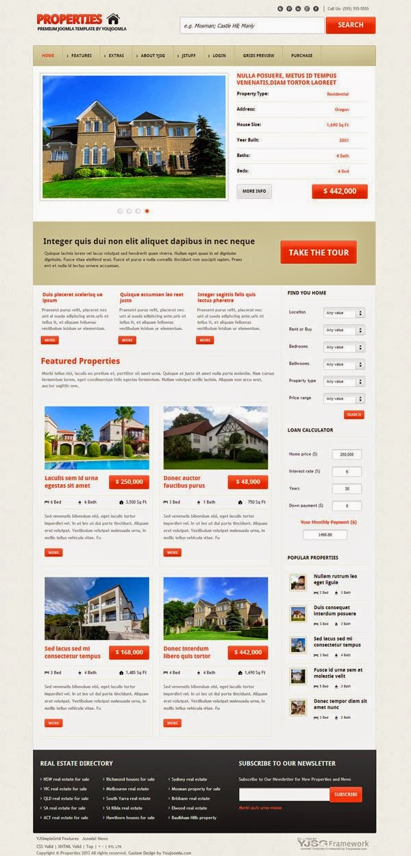 Properties – Responsive Real Estate Joomla Template