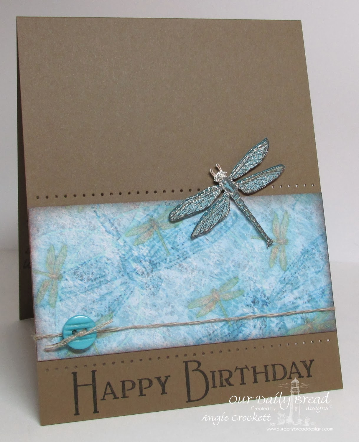 ODBD Faithful Friend, Dad, Blooming Garden Collection Designer Paper, Card Designer Angie Crockett