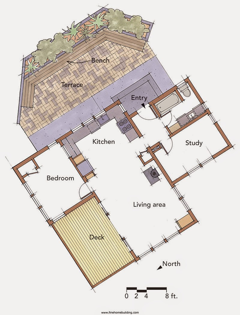 Small scale homes 800 square foot home in the california for 800 square foot homes