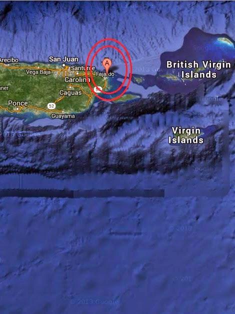 Magnitude 3.0 Earthquake of Fajardo, Puerto Rico 2014-09-16