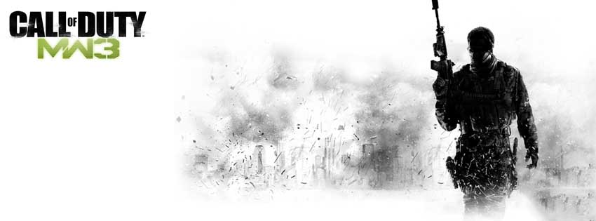 Call Of Duty MW3 Game Facebook Timeline Cover