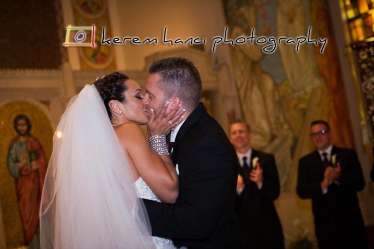 The kiss at Saint Nicholas Greek Orthodox Church