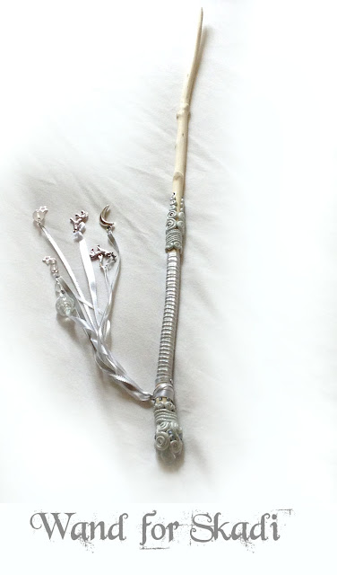 Holly Wand for the Goddess Skadi from Moonscrafts