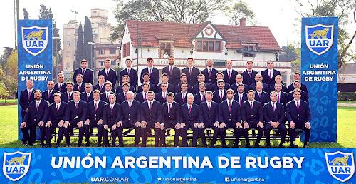 Foto oficial de Los Pumas antes de la RWC2015