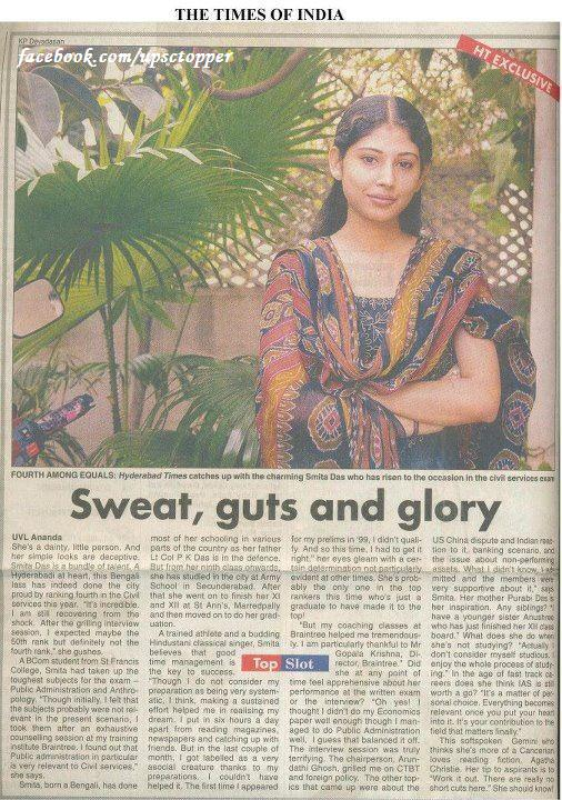 Times of India Article about (Karimnagar) District Collector Mrs. Smita Sabharwal