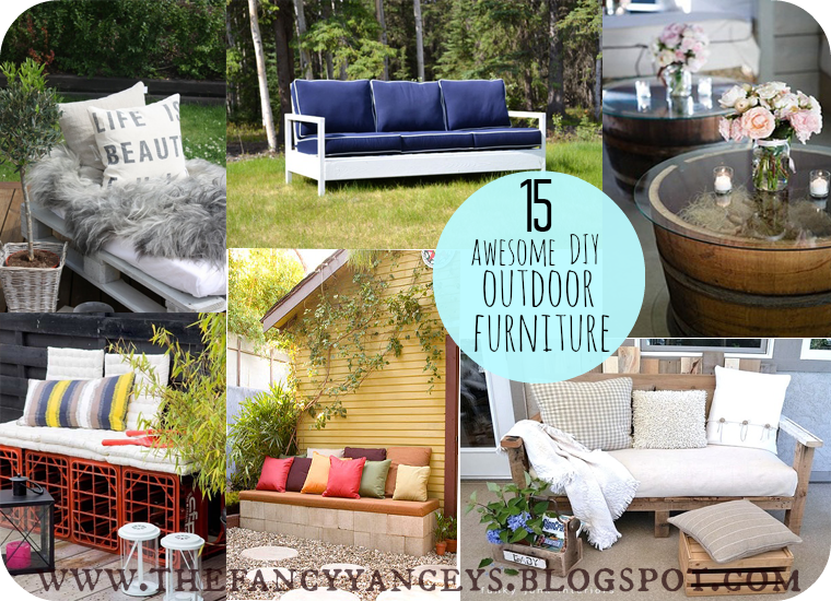 garden week 15 awesome diy outdoor furniture ideas - Garden Ideas Vintage