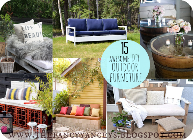 garden week 15 awesome diy outdoor furniture ideas vintage romance