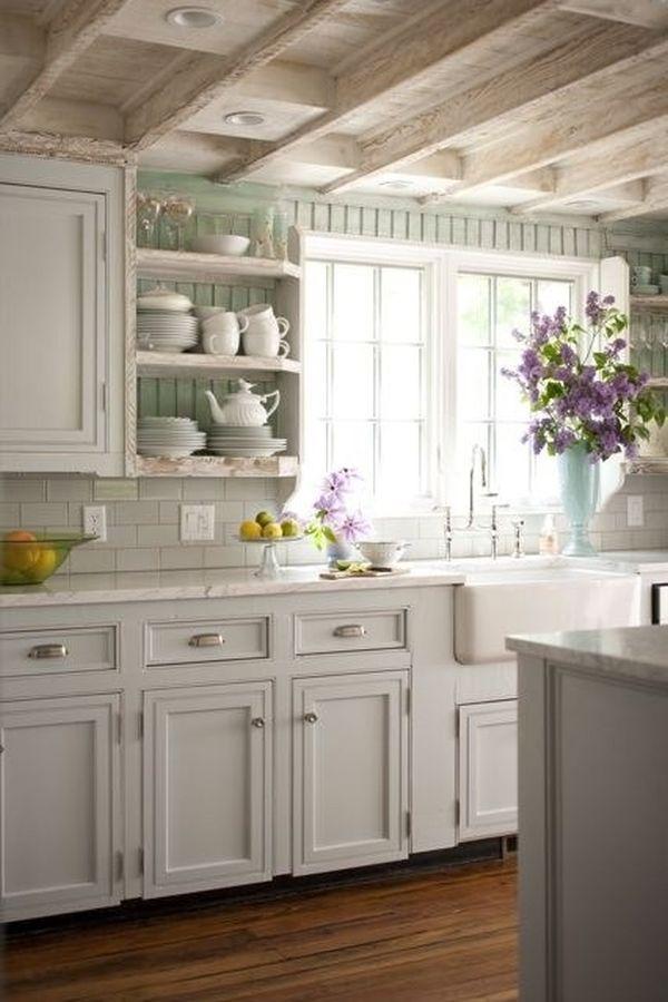 My little white Home: Uchwyty kuchenne muszelki